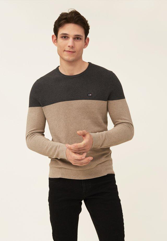 GRAHAM  - Strikkegenser - brown/gray