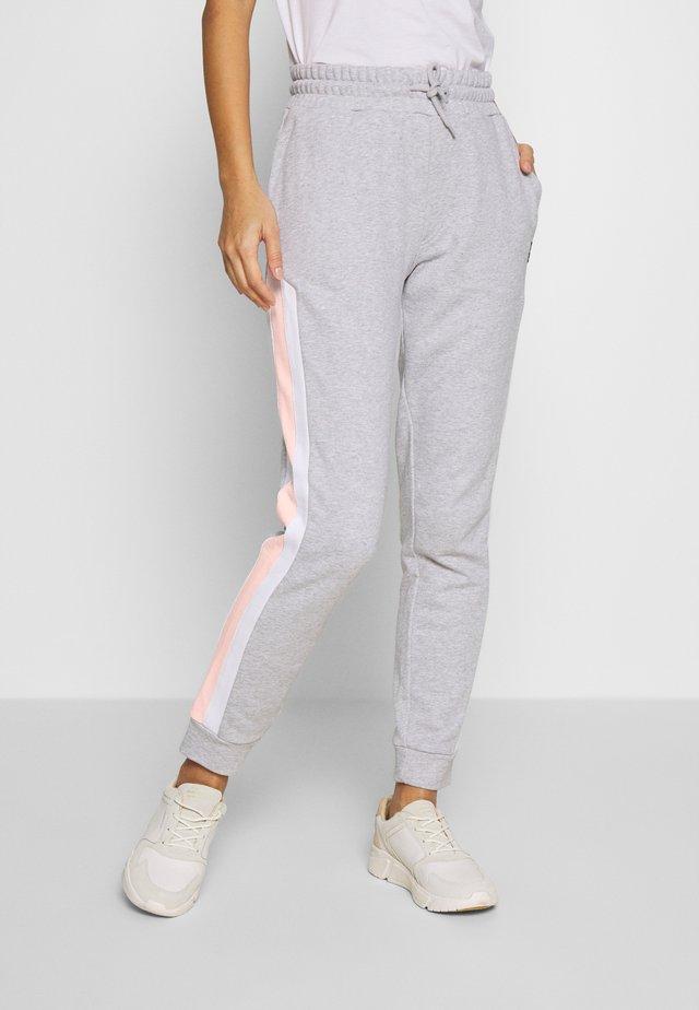 COLOUR BLOCK SWEATPANT - Teplákové kalhoty - light grey