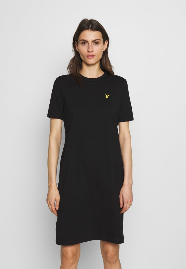 DRESS - Jersey dress - jet black