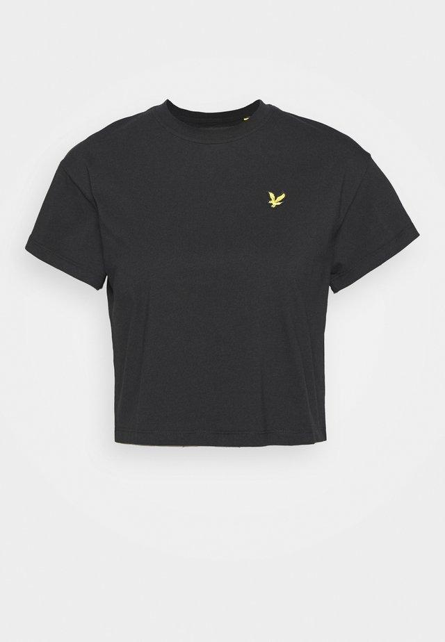 CROPPED - T-shirt - bas - jet black