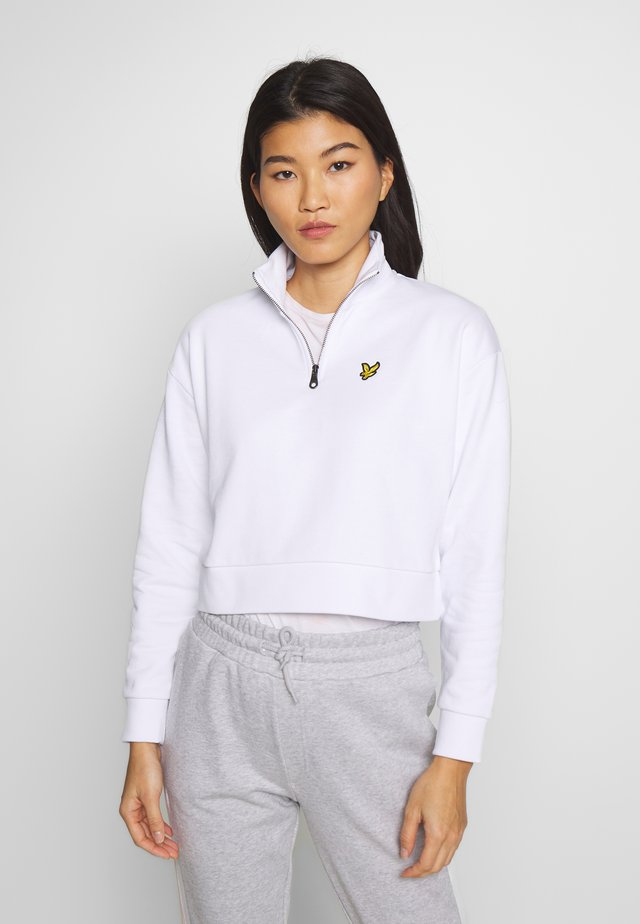 CROPPED ZIP - Sweatshirt - white