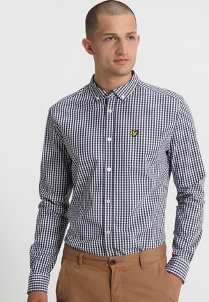 SLIM FIT GINGHAM  - Skjorta - navy