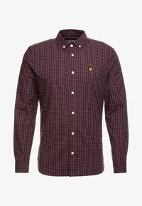 Lyle & Scott - SLIM FIT GINGHAM  - Skjorta - berry/true black - 3