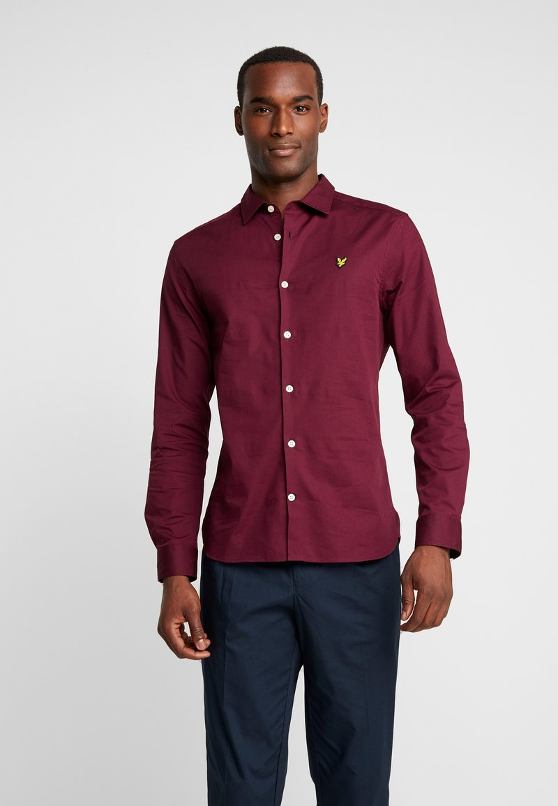 Lyle & Scott - SLIM FIT  - Shirt - burgundy