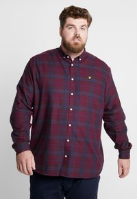 Lyle & Scott - PLUS CHECK - Skjorte - burgundy - 0