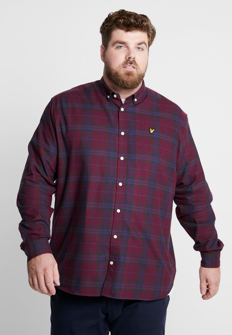 Lyle & Scott - PLUS CHECK - Skjorte - burgundy