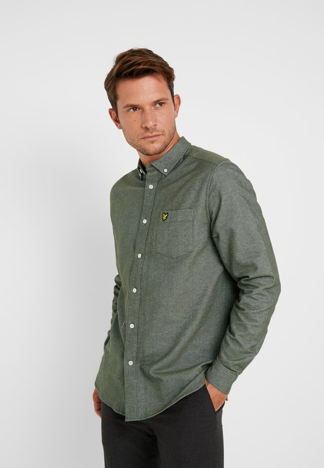 BRUSHED SHIRT - Shirt - olive