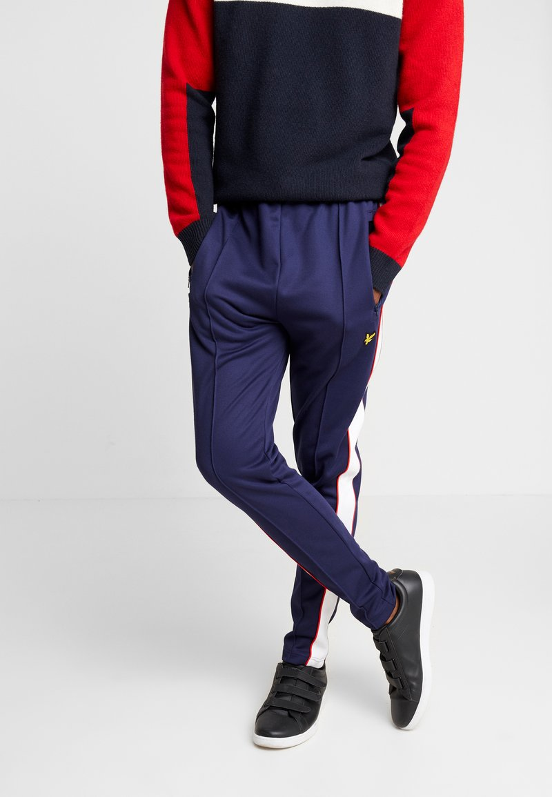 Lyle & Scott - COLOUR BLOCK TRACKPANT - Trainingsbroek - navy