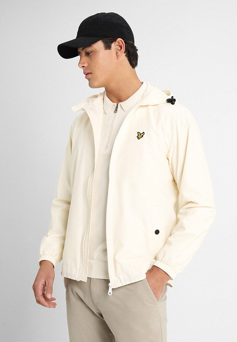 Lyle & Scott - ZIP THROUGH HOODED JACKET - Windbreaker - snow white