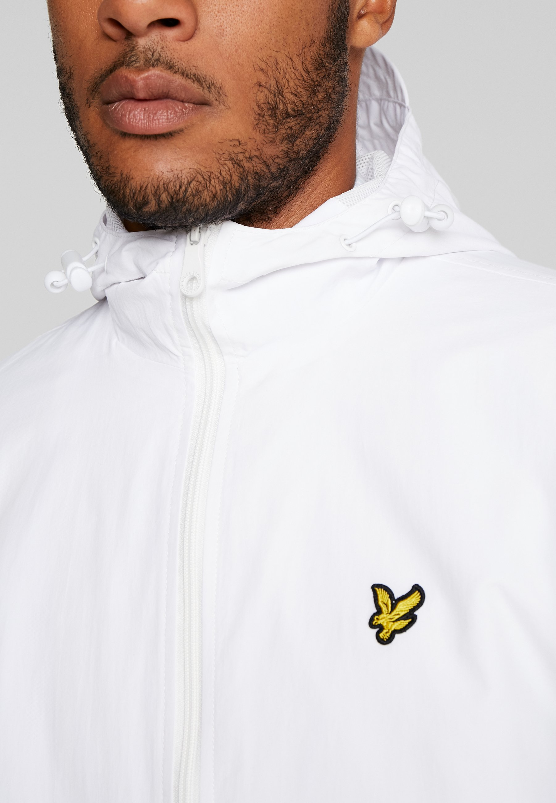 Lyle & Scott Zip Through Hooded Jacket - Korte Jassen White
