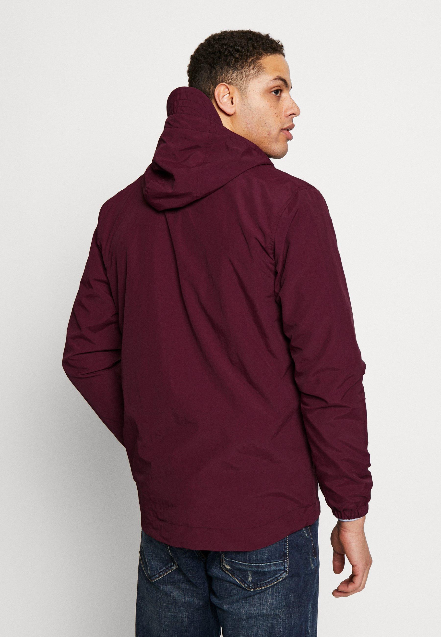 Lyle & Scott Zip Through Hooded Jacket - Korte Jassen Merlot