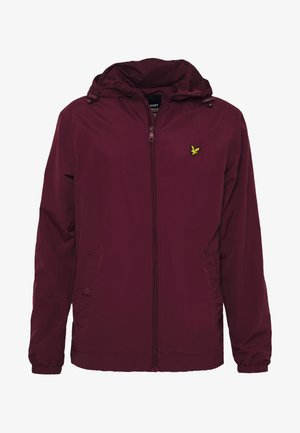 ZIP THROUGH HOODED JACKET - Tunn jacka - merlot