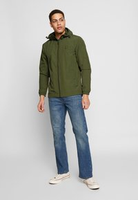 Lyle & Scott - ZIP THROUGH HOODED JACKET - Korte jassen - lichen green - 1
