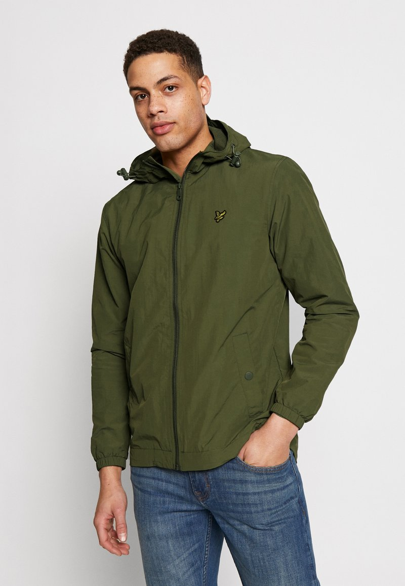 Lyle & Scott - ZIP THROUGH HOODED JACKET - Korte jassen - lichen green