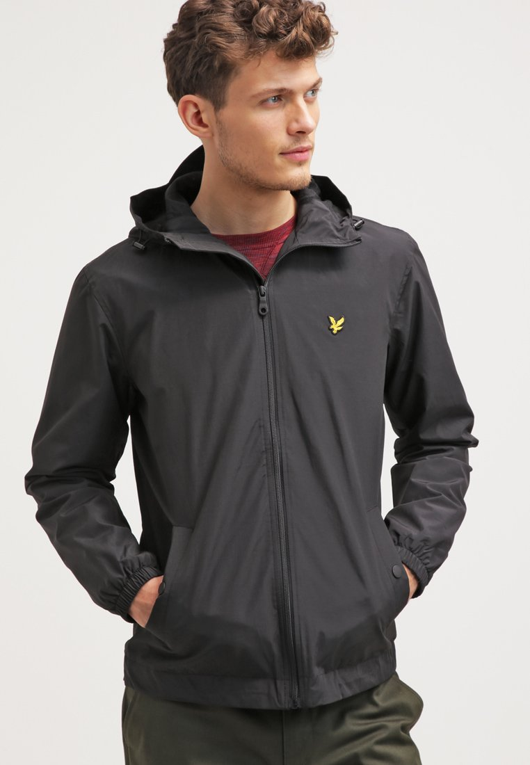 Lyle & Scott - ZIP THROUGH HOODED JACKET - Windbreaker - true black