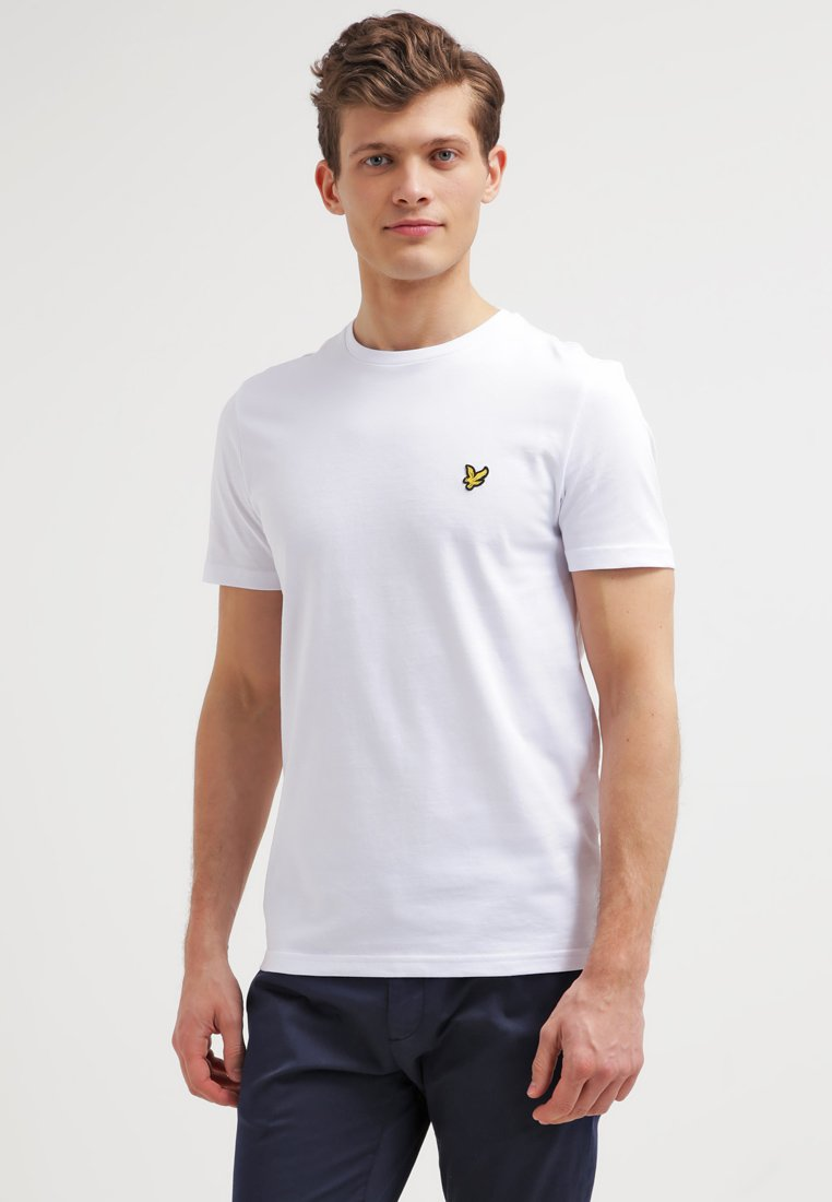 Lyle & Scott - CREW NECK - T-shirt - bas - white