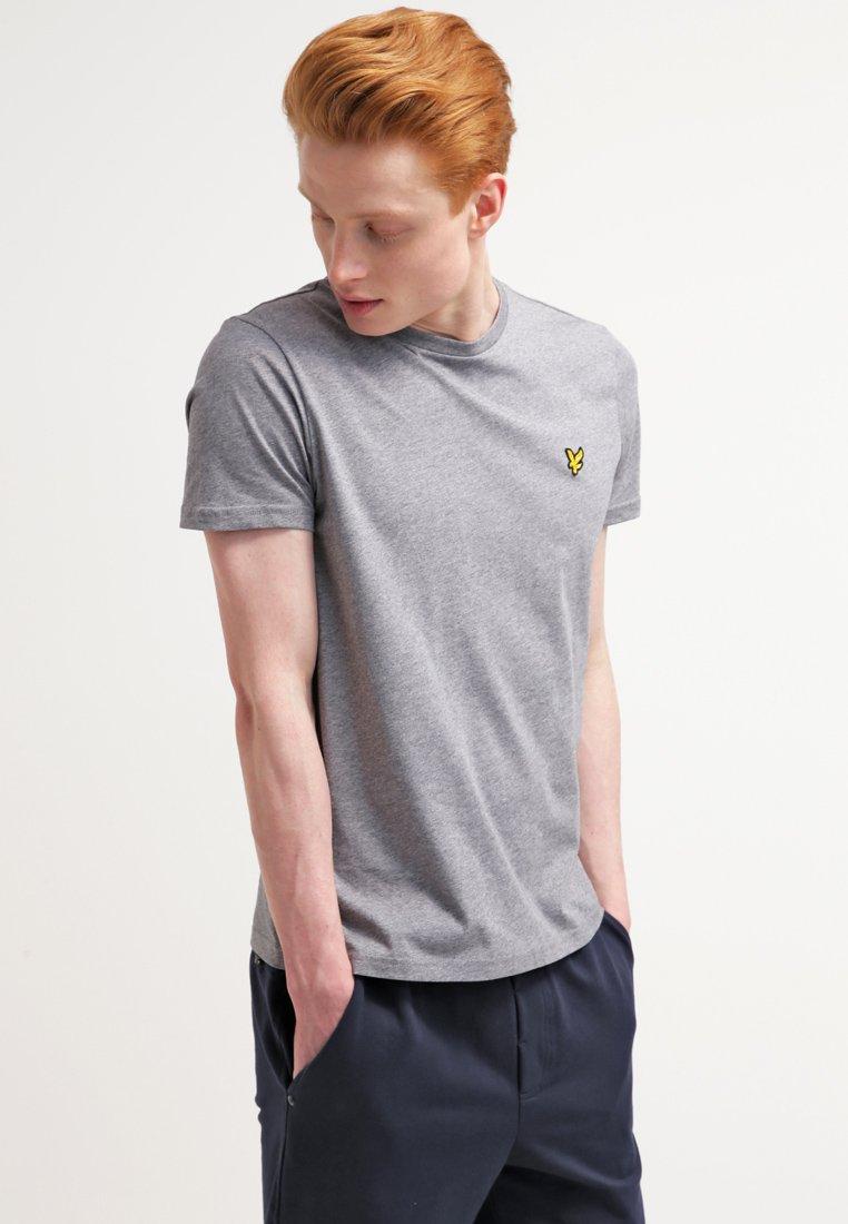 NeckT shirt Scott Mid Marl Grey Basique Crew Lyleamp; q5c3RL4Aj