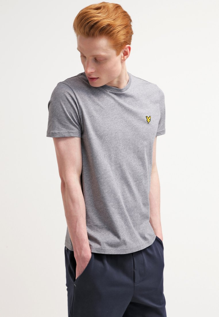 Lyle & Scott - CREW NECK - Camiseta básica - mid grey marl