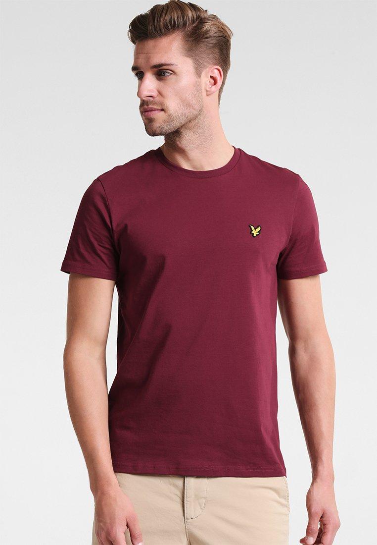 Lyle & Scott - CREW NECK - T-Shirt basic - claret jug