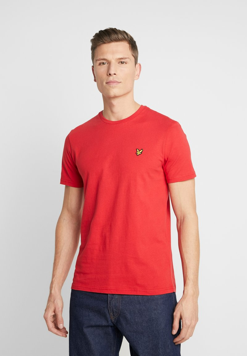 Lyle & Scott - CREW NECK - T-shirt basic - gala red