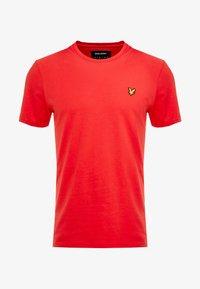 Lyle & Scott - CREW NECK - T-shirt basic - gala red - 3