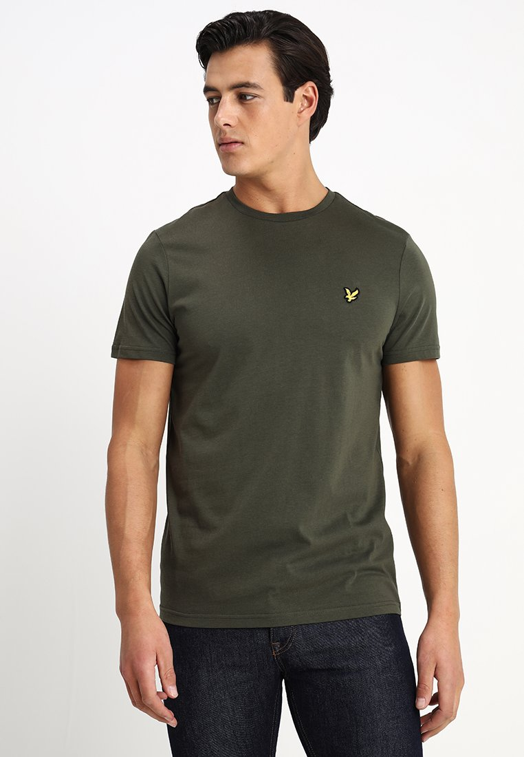 Lyle & Scott - CREW NECK - T-paita - dark sage