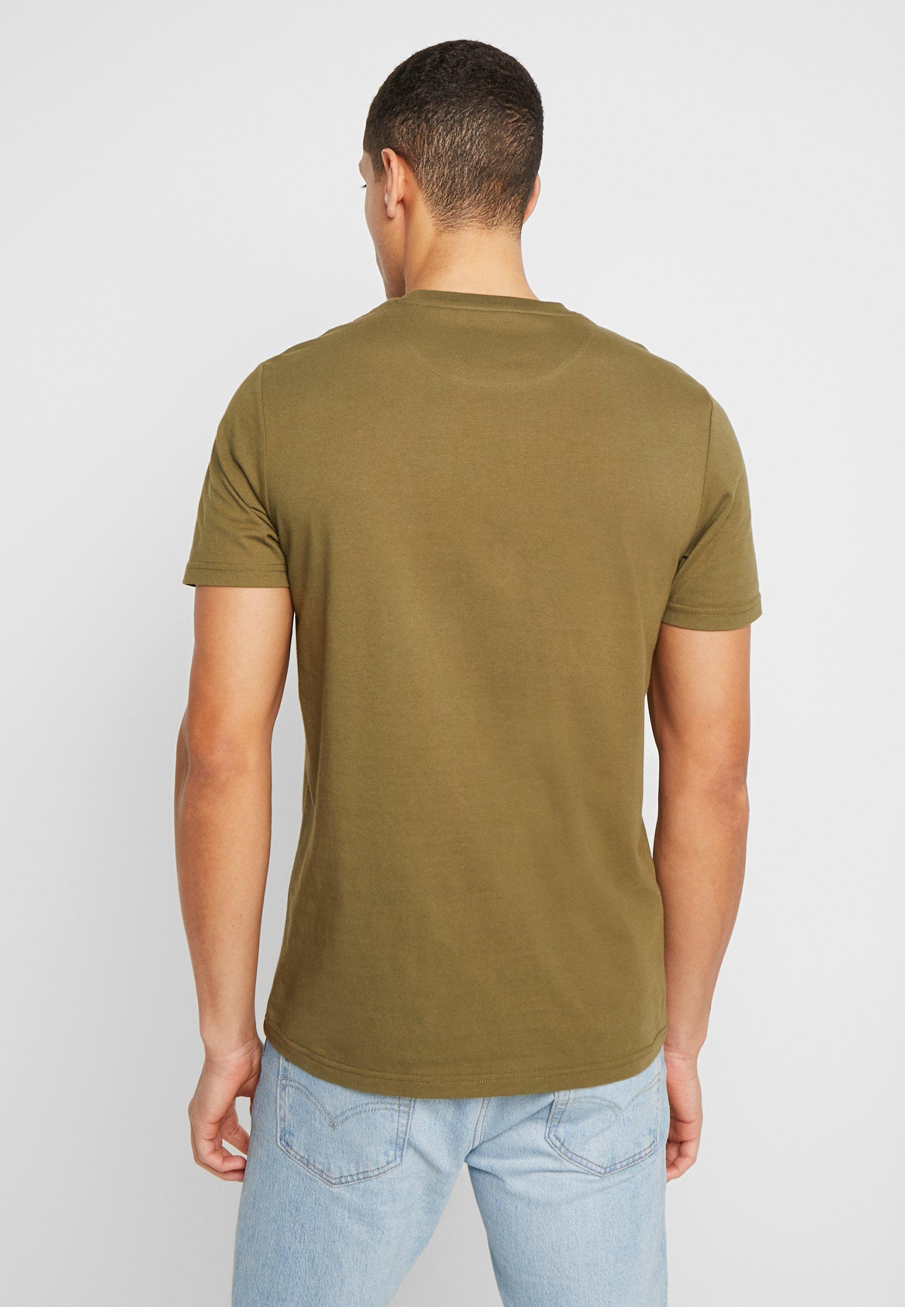 Lyle & Scott T-shirts basic - lichen green - Tøj Til Herrer Salg