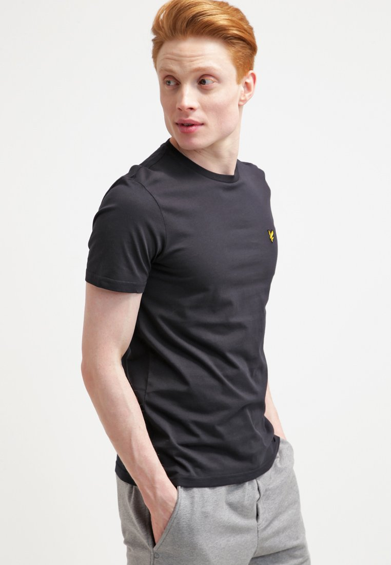 Lyle & Scott - CREW NECK - T-shirt basic - true black