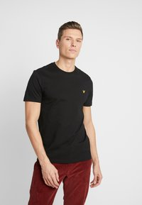Lyle & Scott - CREW NECK - T-shirt basic - jet black - 0