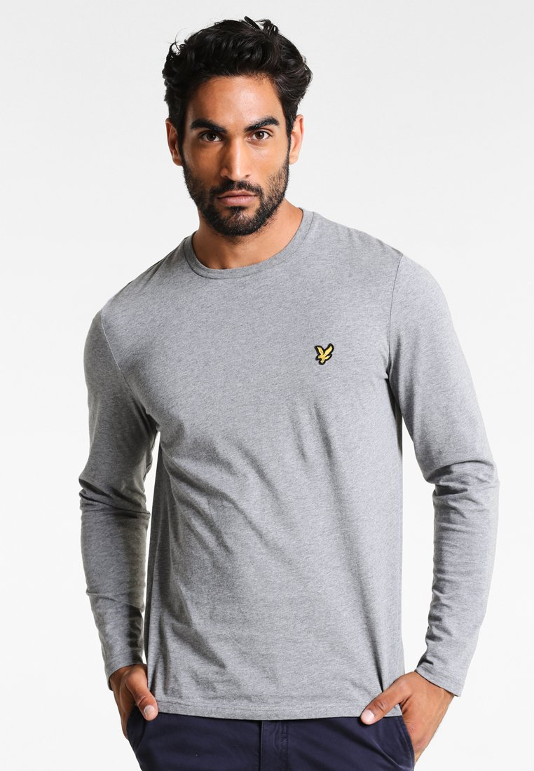 Lyle & Scott - CREW NECK PLAIN - T-shirt à manches longues - mid grey marl