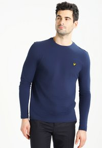 Lyle & Scott - CREW NECK PLAIN - Longsleeve - navy - 0