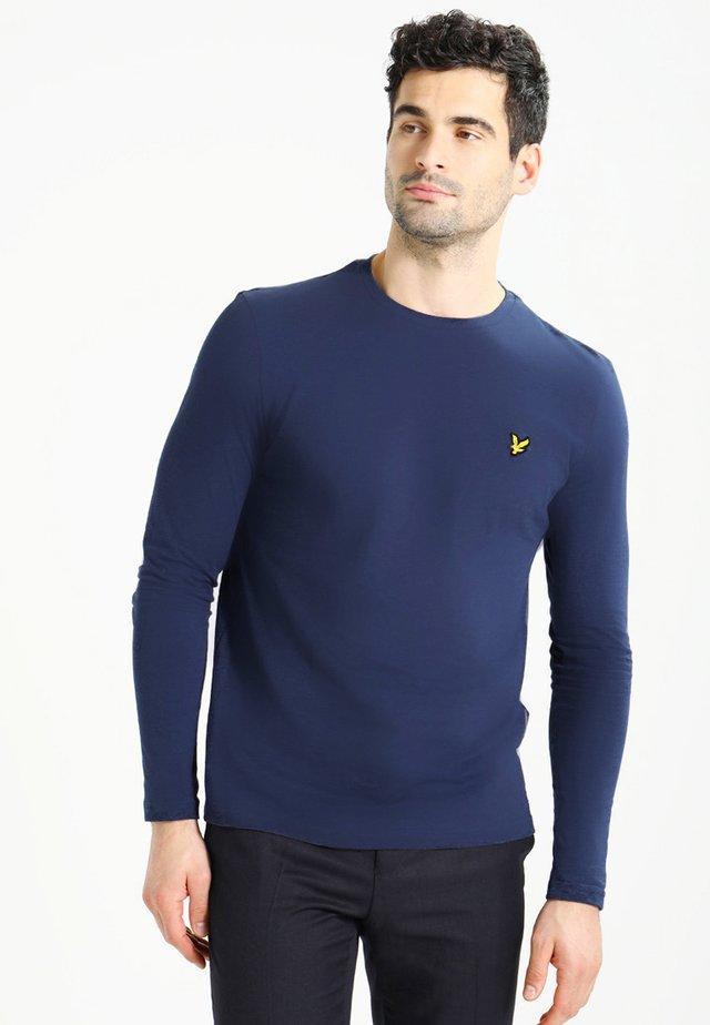CREW NECK PLAIN - Long sleeved top - navy