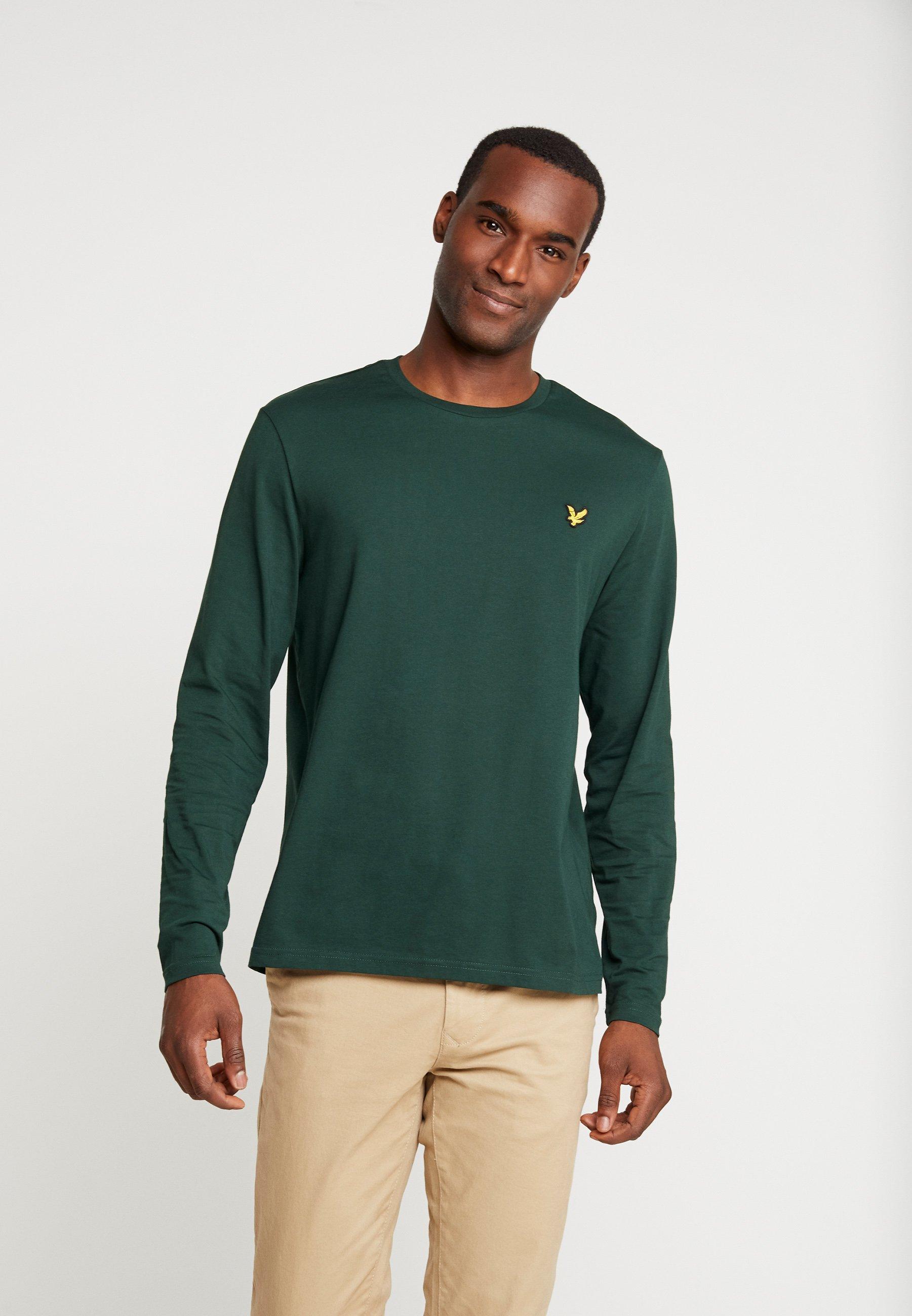 Neck À Longues Crew Jade Manches Green PlainT shirt Scott Lyleamp; 9IWD2HE
