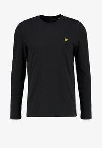 Lyle & Scott - CREW NECK PLAIN - Pitkähihainen paita - true black - 4