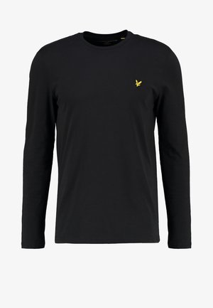 CREW NECK PLAIN - Long sleeved top - true black