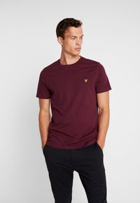 Lyle & Scott - CREW NECK  - T-shirt - bas - burgundy - 0