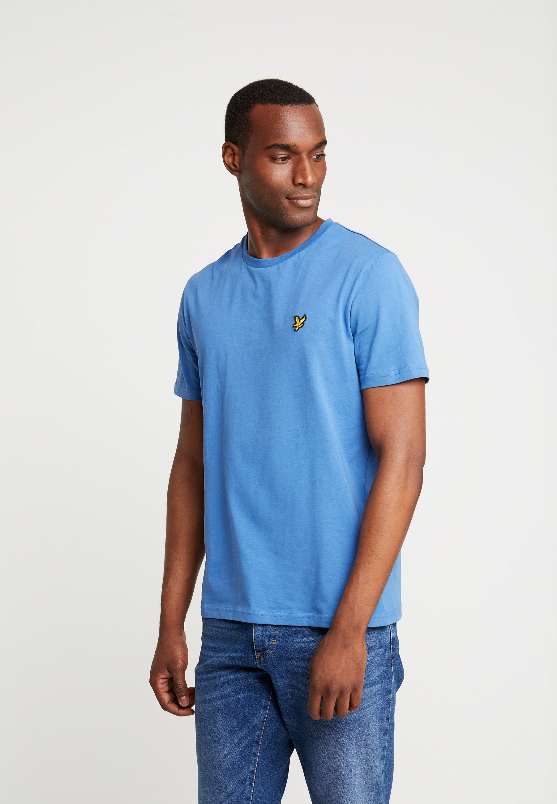 Lapis shirt Scott Crew Basique Blue Lyleamp; NeckT ulFcT31JK