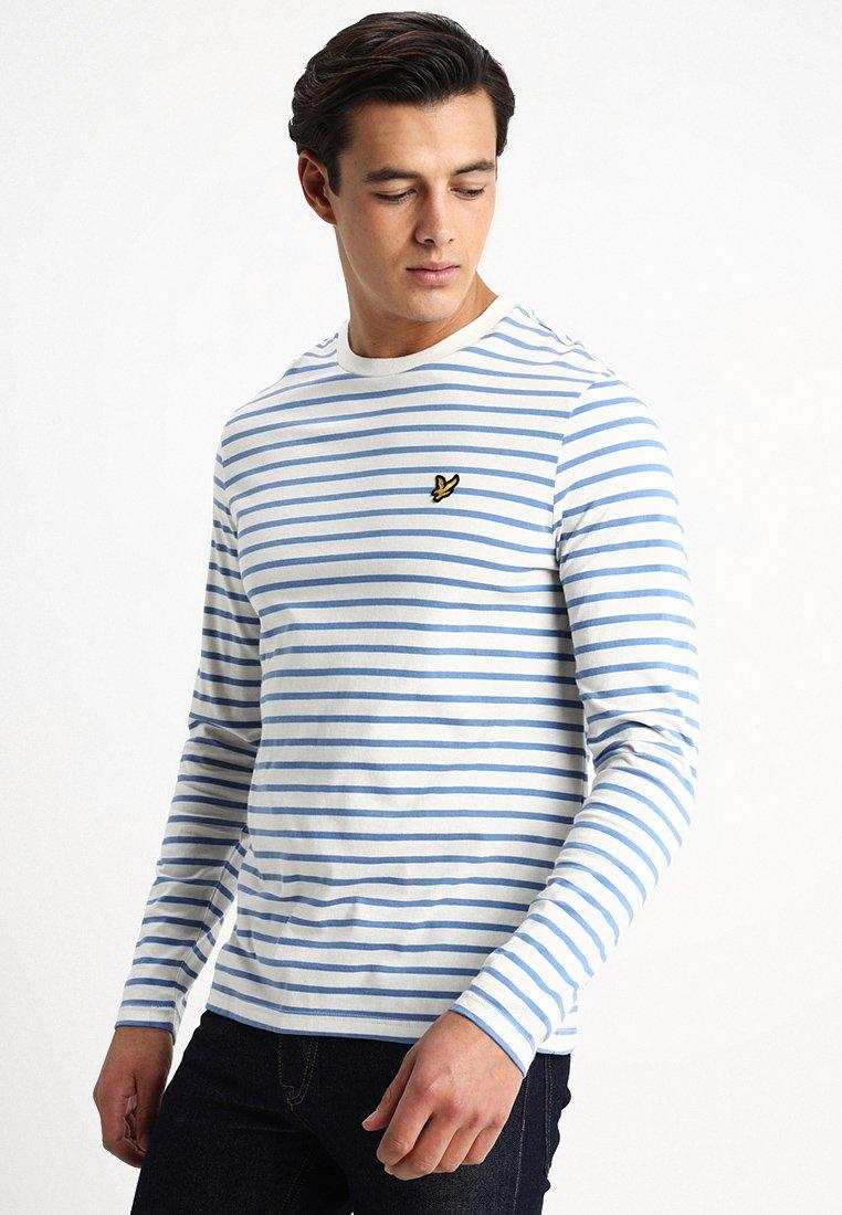 Lyle & Scott - Long sleeved top - snow white/cornflower blue