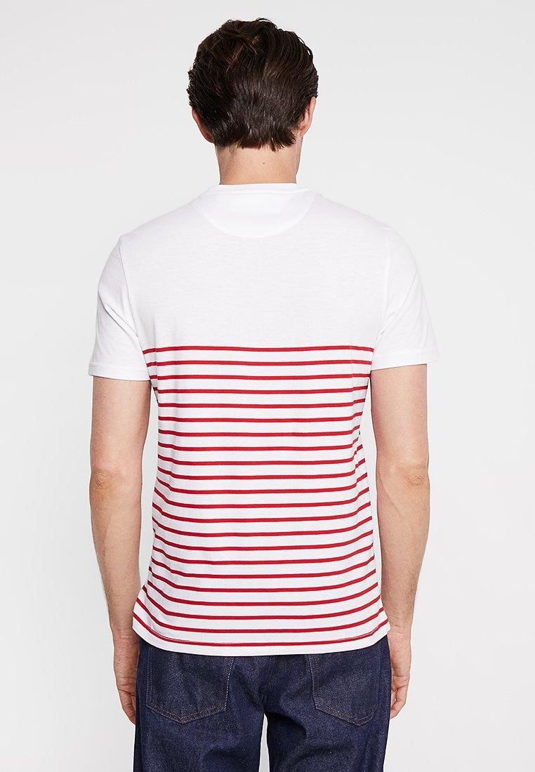 Lyleamp; Breton shirt Dark Red StripeT Scott Imprimé white iPXkZu
