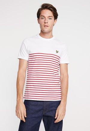 BRETON STRIPE  - Print T-shirt - dark red/white