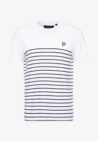 Lyle & Scott - BRETON STRIPE  - T-shirts med print - white/navy - 4