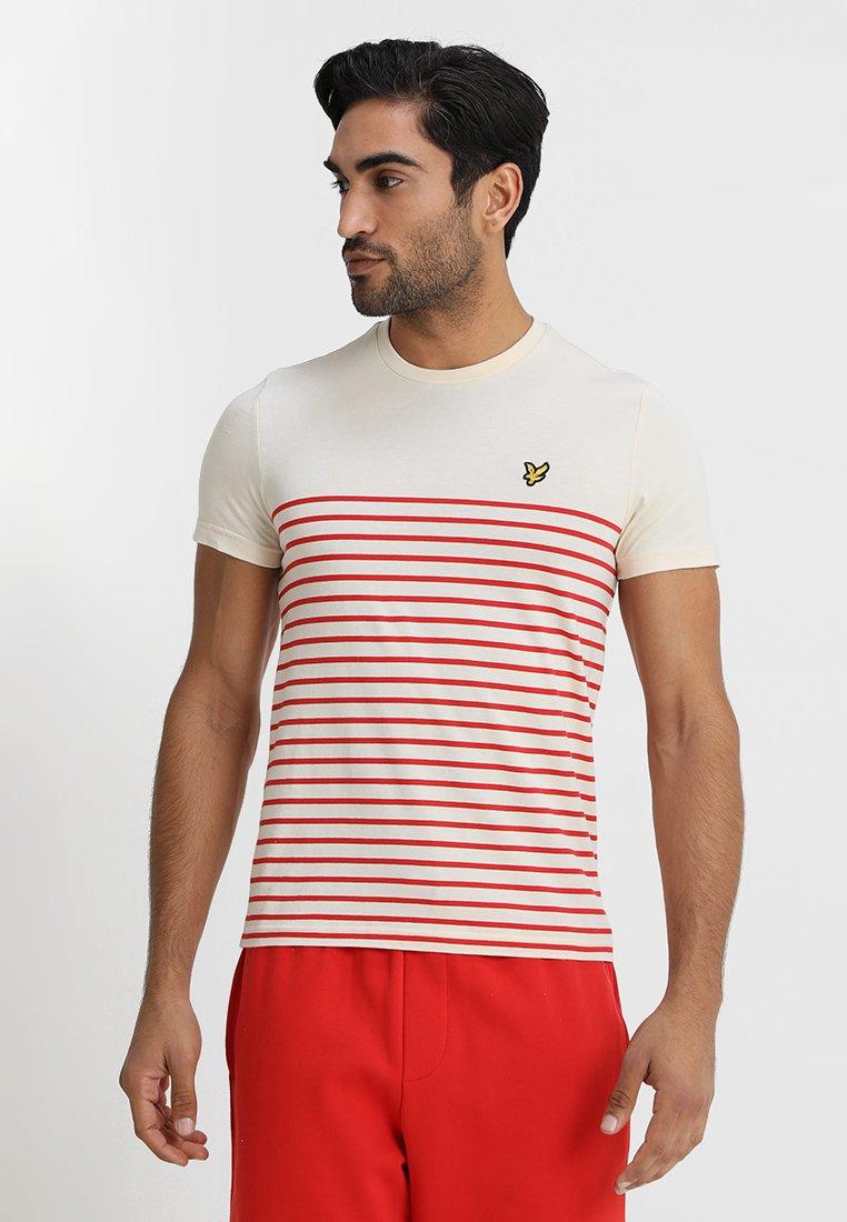 Lyle & Scott - BRETON STRIPE  - T-shirt print - tomato red