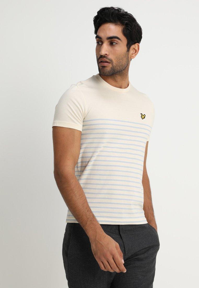 Lyle & Scott - BRETON STRIPE  - Print T-shirt - yellow
