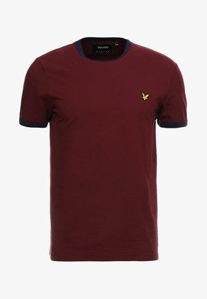 RINGER TEE - T-shirt med print - claret jug