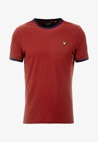 Lyle & Scott - RINGER TEE - T-Shirt print - brick red/ navy - 3