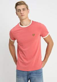 Lyle & Scott - RINGER TEE - T-Shirt print - sunset pink - 0