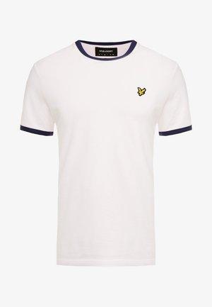 RINGER TEE - Basic T-shirt - strawberry cream/navy