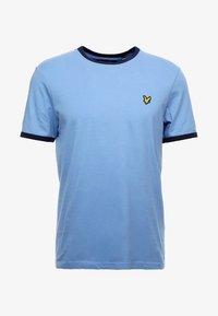 Lyle & Scott - RINGER TEE - T-Shirt print - cornflower blue/navy - 3