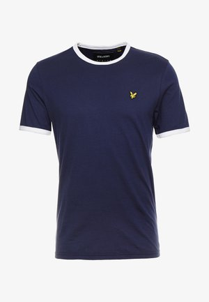RINGER TEE - T-shirt basic - navy/white
