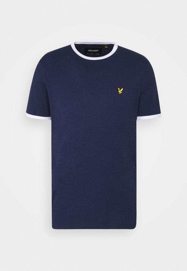 RINGER TEE - T-shirts basic - navy/white